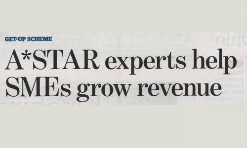 8 May 2013 TODAYonline A STAR experts help SMEs grow revenue Thumbnail